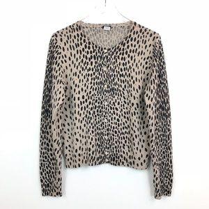 J. Crew Wildcat Merino Wool Cardigan Sweater